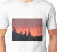 Smoke Trail Sunset Unisex T-Shirt