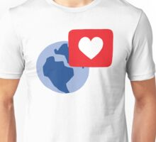 Love notification Unisex T-Shirt