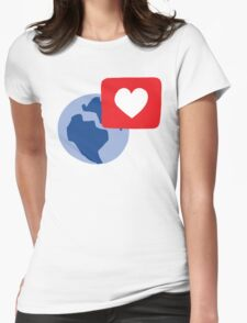 Love notification Womens Fitted T-Shirt