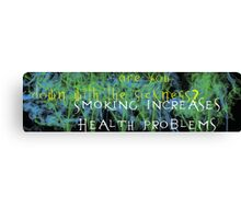 Bumper Sticker Canvas Print