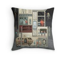 Moon Base Throw Pillow