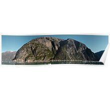 Tracy Arm Fjord Panoramic Mountain Poster