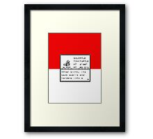 No. 007 Squirtle Entry Framed Print