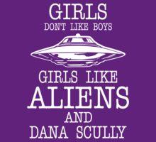 Girls Dont Like Boys Girls Like Aliens And Dana Scully by fashioza