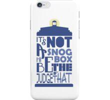 snog box - tardis iPhone Case/Skin