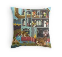 Close the gates! Throw Pillow