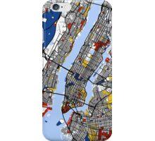 New York Mondrian map iPhone Case/Skin