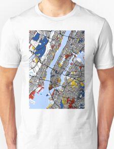 New York Mondrian map T-Shirt