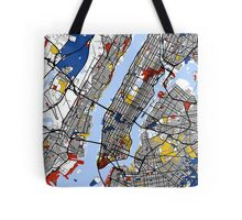 New York Mondrian map Tote Bag