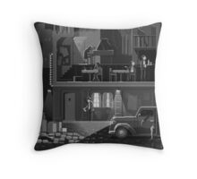 The Night Club Throw Pillow