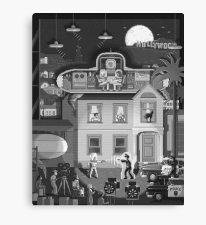 Scene #17: 'Visitors From Outer Space' Canvas Print