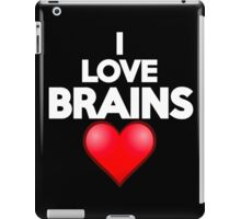 I love brains iPad Case/Skin