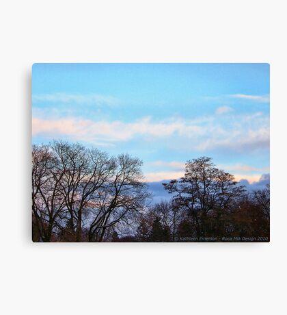 November Sky in Kalispell - South Canvas Print