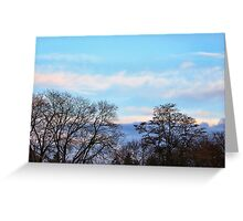 November Sky in Kalispell - South Greeting Card