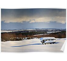 Winter Picnic, Country Park, County Durham. UK Poster