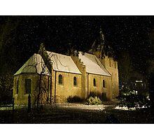 Snowy night ... Photographic Print