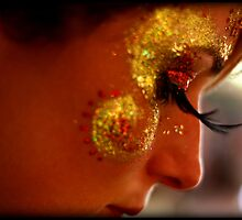 Portrait, Facepaint, Eyelashes by Jackie Barefield