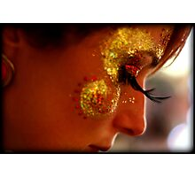 Portrait, Facepaint, Eyelashes Photographic Print