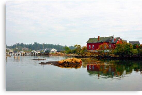 Red House, Corea Harbor, Corea, Maine by fauselr