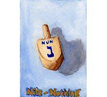 Dreidel - Nun, Nite, Nothing Photographic Print