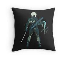 Raiden Vector Art - Metal Gear Solid/Rising Throw Pillow
