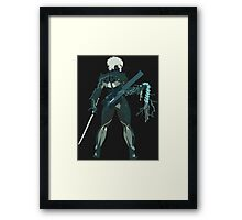 Raiden Vector Art - Metal Gear Solid/Rising Framed Print