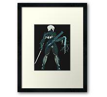 Raiden Vector Art - Metal Gear Solid/Rising Framed Print