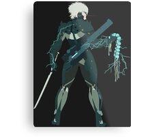 Raiden Vector Art - Metal Gear Solid/Rising Metal Print