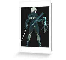 Raiden Vector Art - Metal Gear Solid/Rising Greeting Card