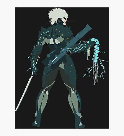 Raiden Vector Art - Metal Gear Solid/Rising Photographic Print