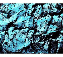 Ink abstract in blue Photographic Print