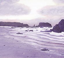 Harris Beach Greeting Card by Barbara Applegate
