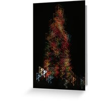Suburb Christmas Light Series - Dancing around the Tree Greeting Card