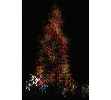 Suburb Christmas Light Series - Dancing around the Tree Photographic Print