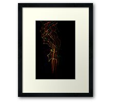 Suburb Christmas Light Series - Xmas Smoke Framed Print