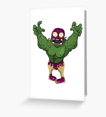 Wrestler Zombies! Greeting Card