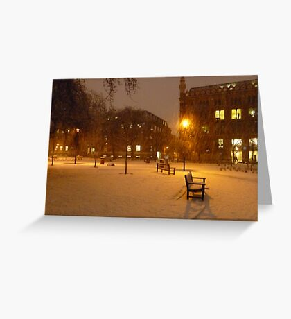 Park Square - 7AM Greeting Card