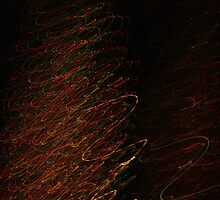 Suburb Christmas Light Series - Xmas Tree by David J. Hudson