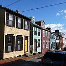 Eighteenth century pastel houses in Annapolis, Maryland by nealbarnett