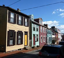 Eighteenth century pastel houses in Annapolis, Maryland by nealbarnett