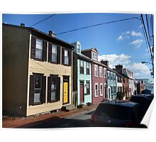 Eighteenth century pastel houses in Annapolis, Maryland Poster