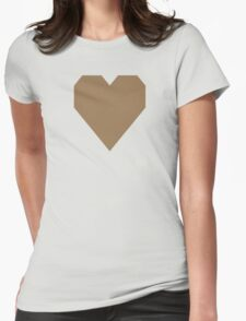 Pale Brown  Womens Fitted T-Shirt