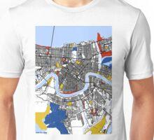 New Orleans Mondrian map Unisex T-Shirt