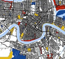 New Orleans Mondrian map by mondrianmaps