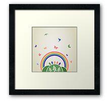 Children rainbow Framed Print