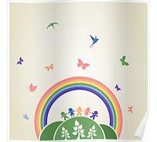 Children rainbow Poster