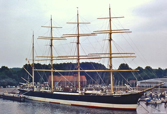 Barque Passat in Travemünde by David Davies