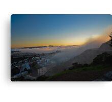 South San Francisco Fog Canvas Print