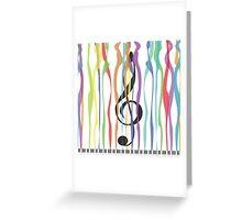 Piano & Colors Greeting Card