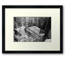 Shack roof through screen Framed Print